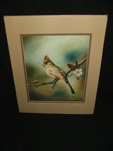 Qua Lemonds Cardinal Limited Edition Print Renowned Vietnamese Artist in Oswego, Illinois