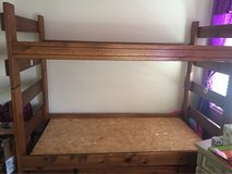 wood bunk bed in Aurora, Illinois