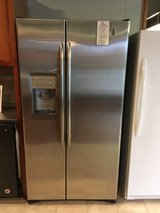 GE Stainless Steel Side by Side Refrigerator - USED in Fort Lewis, Washington