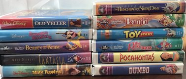 11Disney VHS tapes - Old Yeller Mary Poppins Bambi Toy Story Dumbo Rescuers in Oswego, Illinois