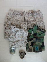Various Uniform Items in Okinawa, Japan