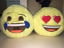 two emoji pillow piggy banks in Pasadena, Texas