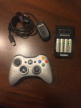 XBox 360 Controller, Wireless adapter, 6 AA batteries with Charger in Travis AFB, California