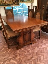 great antik solid wood table 6 chairs from France in Ramstein, Germany