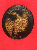Firemark Eagle Hose No. 2 Cast Iron Fire Department Plaque Marker in Bolingbrook, Illinois