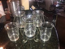 PartyLite Set of 3 Iron Holders & 5 Vases in Kingwood, Texas