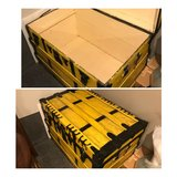Antique steamer trunk. Yellow. in Plainfield, Illinois