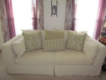 Ivory full size couch in Naperville, Illinois