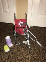 American Girl wheelchair,  arm, leg cast and crutches in Joliet, Illinois