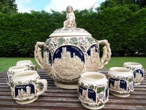 Vintage Castle Punch Bowl set in Ramstein, Germany