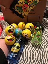 7 stress balls and 2 water bottles in Warner Robins, Georgia