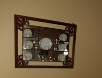 Ornate mirrored shadow box with shelves in Warner Robins, Georgia