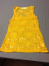 Yellow lace sequins medium tank top in Fort Riley, Kansas