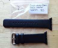 Apple Watch band 42mm black leather in Fort Campbell, Kentucky