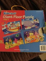 Giant floor puzzles in Travis AFB, California