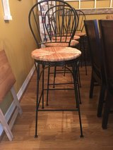 Bar Stools-Metal with wicker in Baytown, Texas
