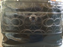 Coach Patent Black Leather Embroidered Tote/Diaper Bag - Excellent Condition! in Naperville, Illinois