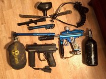 Reduced: 2 Spyder paintball guns & accessories in Clarksville, Tennessee