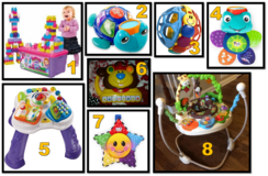 Assorted baby & toddler toys- see details in Fort Rucker, Alabama