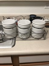 white canisters in Fort Leavenworth, Kansas