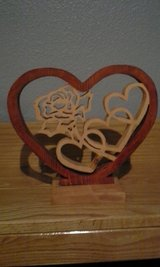Heart and Rose Frame in Fort Leonard Wood, Missouri
