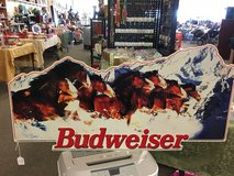 Metal Budweiser Sign in Fort Leonard Wood, Missouri