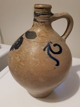 German pottery jug. 11 inches x 8 inches  Hand thrown in Wiesbaden, GE