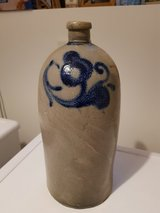 German Pottery Tall jug. 14 inches tall x 7 Inches wide. old hand thrown in Wiesbaden, GE