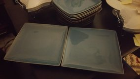 """Two Big Blue Serving Plates 12"""" x 12"""" in Ramstein, Germany"""