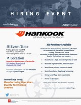 HANKOOK Hiring Event in Fort Campbell, Kentucky