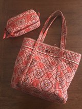 Vera Bradley Paprika Vera tote bag and cosmetic travel case in Byron, Georgia