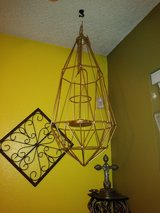 Geometric hanging candle holder in The Woodlands, Texas
