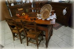 rustic country house dining room set with 4 chairs in Spangdahlem, Germany