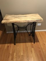 Awesome Unique Live Edge Top Singer Stand Table in Bolingbrook, Illinois