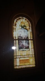 Large Stained Glass Window from Church. in Fort Riley, Kansas