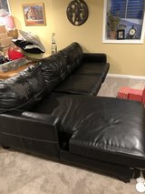 Free black couch in Yorkville, Illinois