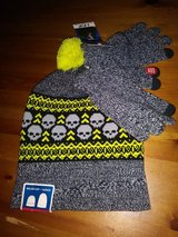 Skulls beanie with gloves set in Spring, Texas