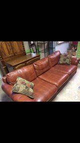 Leather couch (faux leather) in Warner Robins, Georgia