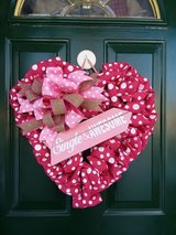 Single & Awesome Burlap Heart Wreath in Naperville, Illinois