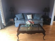 Moving Sale! Royal Blue Fabric Couch with Matching Furniture! in Westmont, Illinois