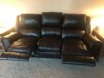 Brown leather couch in Vacaville, California