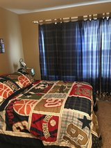 Bedding, drapes and lamp - Boys Sports in Naperville, Illinois