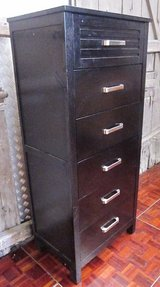 Tall Black Dresser with Silver Handles  170 cm tall in Ramstein, Germany