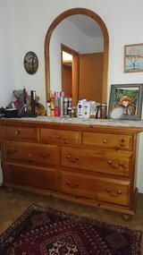 Dresser, mirror and nightstand in Ramstein, Germany