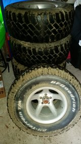 5 33×12.50 r15 rims and tires in DeRidder, Louisiana