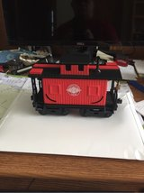 Red caboose in Naperville, Illinois