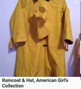 FOR A SMALL CHILD.American Girl Rain coat and hat size small in Wiesbaden, GE