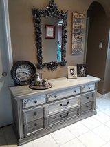 Bassett Metallic Grey Dresser in Baytown, Texas