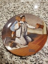 "Norman Rockwell ""The Painter"" plate in Warner Robins, Georgia"