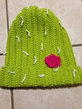 Adult cactus slouchy hat handmade in Lawton, Oklahoma